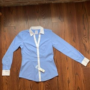 NBW NWT Brooks Brothers Blue Pinstripe Button Down